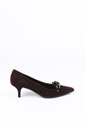 5559f5032b Suede Chainlink Pointed Pumps