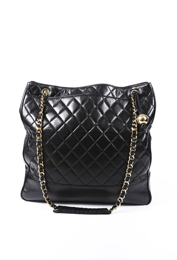 426355bce Vintage Quilted Lambskin Tote