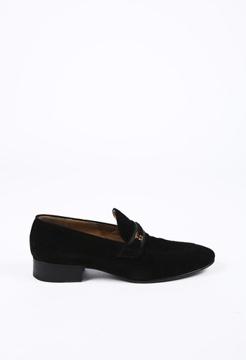 32a4781a074a2 Suede GG Loafers