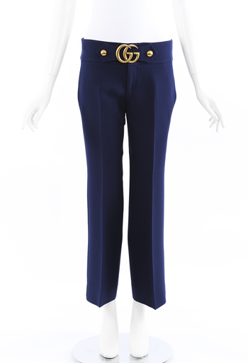 GG Marmont Stretch Wide Leg Pants