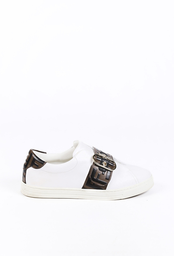 Zucca Logo Leather Sneakers