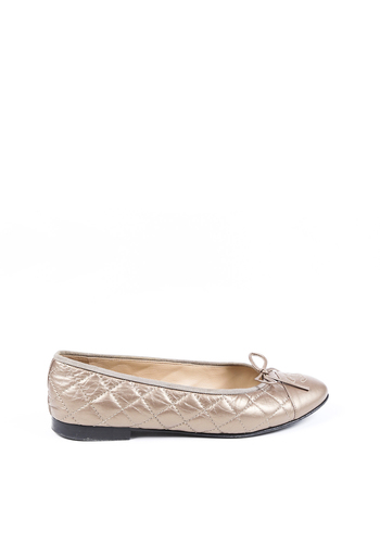 Quilted Leather CC Ballet Flats