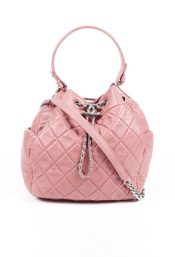 Quilted Leather Bucket Bag