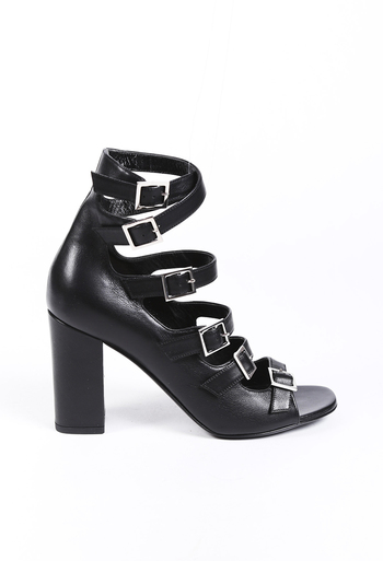 Strappy Leather Pumps