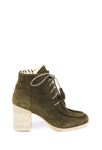 Wallawalla Suede Lace Up Booties