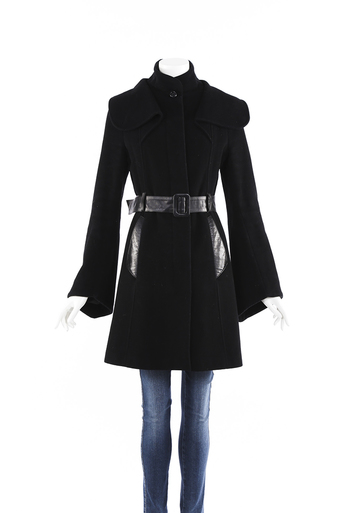 Wool Cashmere Belted Swing Coat