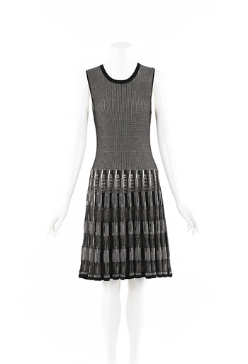 Checked Knit Dress