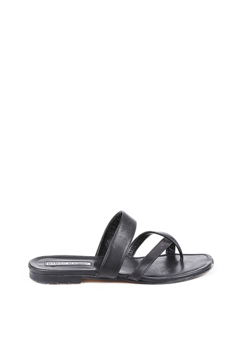 Leather Thong Slide Sandals