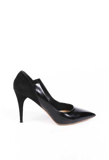 Irina Patent Leather Suede Pointed Pumps