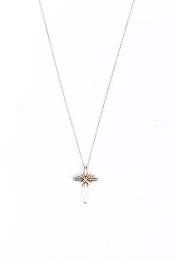 Sterling Silver 18k Gold Cross Necklace
