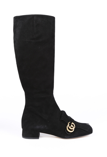 Marmont GG Fringe Knee High Boots
