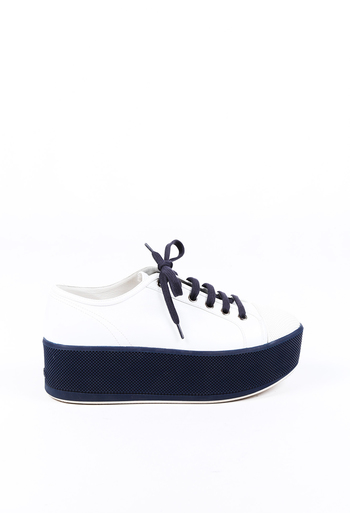 Sport Leather Platform Sneakers