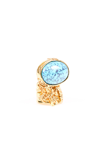 Arty Resin Cabochon Cocktail Ring