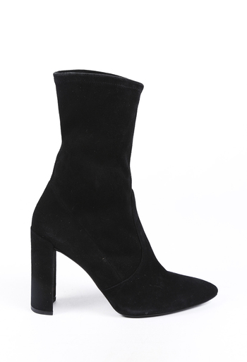 Suede Pointed Sock Boots