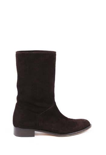 Suede Mid Calf Boots