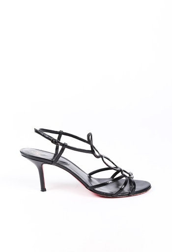 Vintage Strappy Patent Leather Sandals