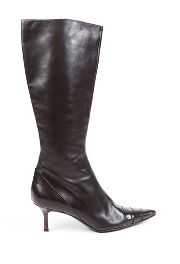 Vintage Leather Pointed Boots