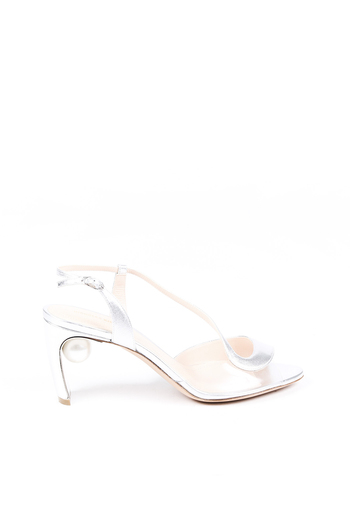 Metallic Leather Pearl Sandals