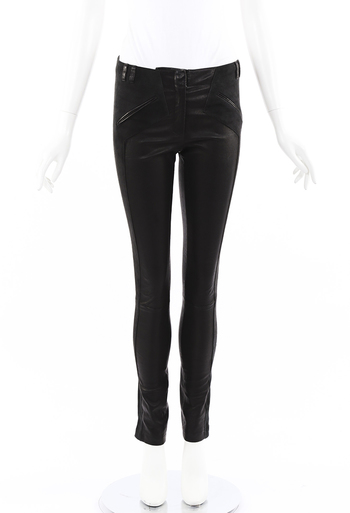 Leather Suede Skinny Pants