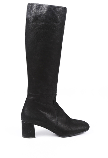 Leather Square Toe Boots