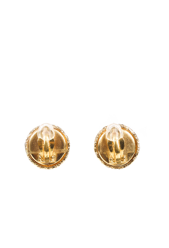 Vintage Faux Pearl CC Clip On Earrings