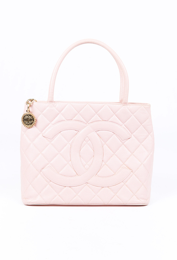 Medallion CC Quilted Caviar Tote Bag