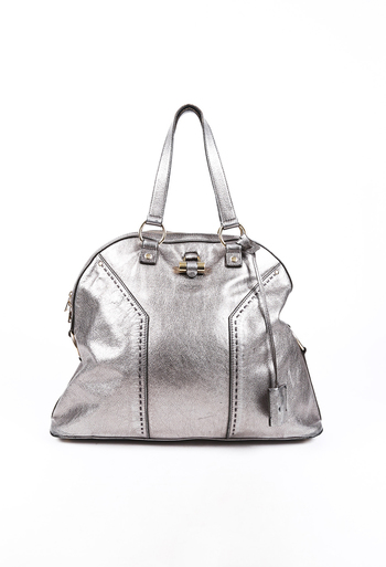Oversized Muse Leather Bag