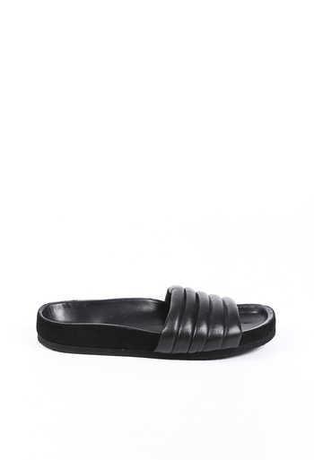 Hellea Quilted Leather Slide Sandals