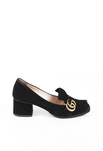 Marmont GG Suede Loafer Pumps