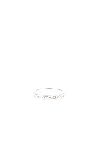 "Tiffany & Co ""New York"" Notes Sterling Silver Ring"